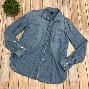 J Crew | Black Label Chambray Button Up Shirt 2